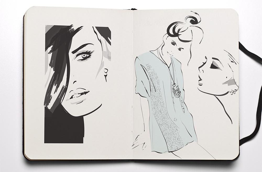 Fashion Sketchbook - Fashion girls