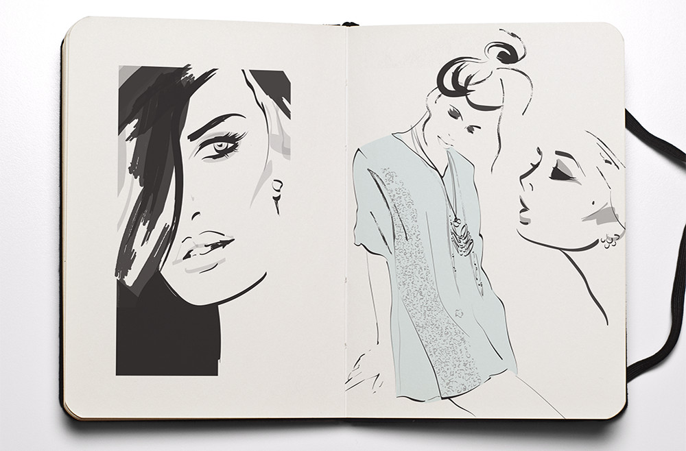 Fashion Sketchbook - Fashion girls