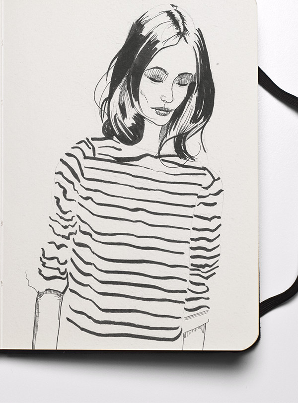 Fashion Sketchbook - Bretton Girl