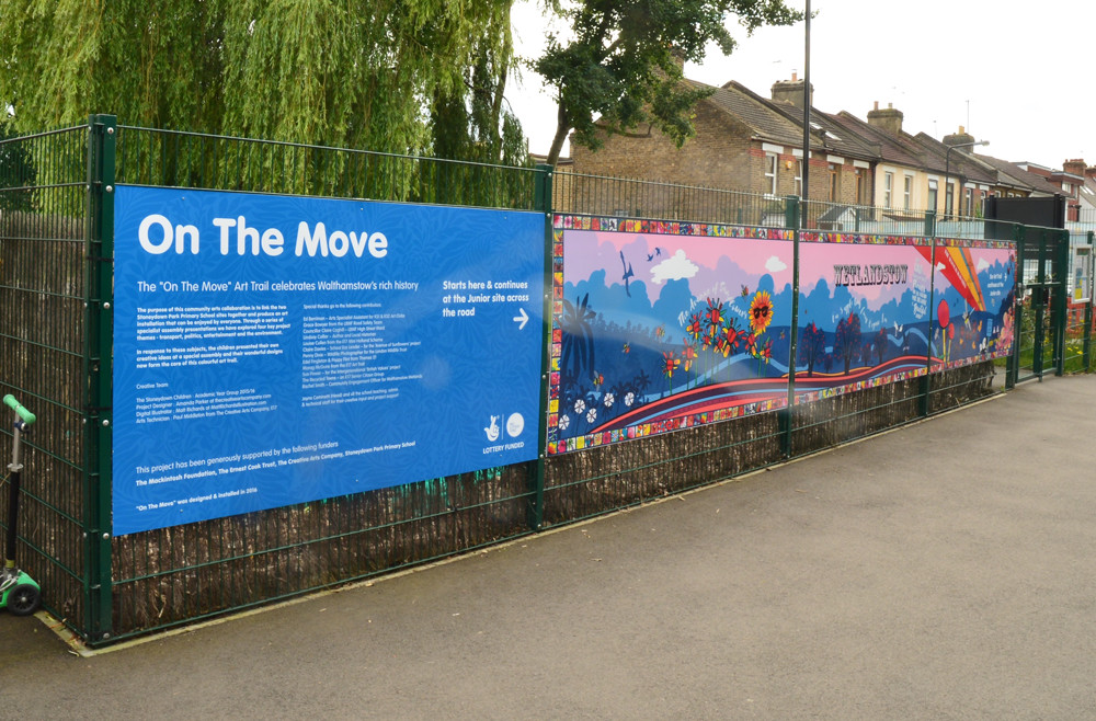 Stoneydown ParkPrimary School On the Move mural