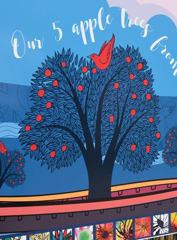 Apple tree illustration by Matt Richards Illustration