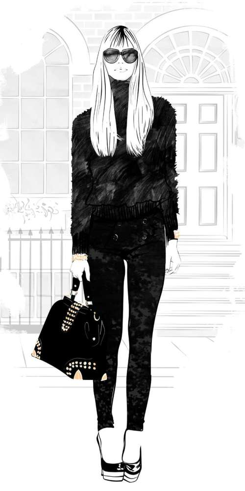 Mohair fashion illustration