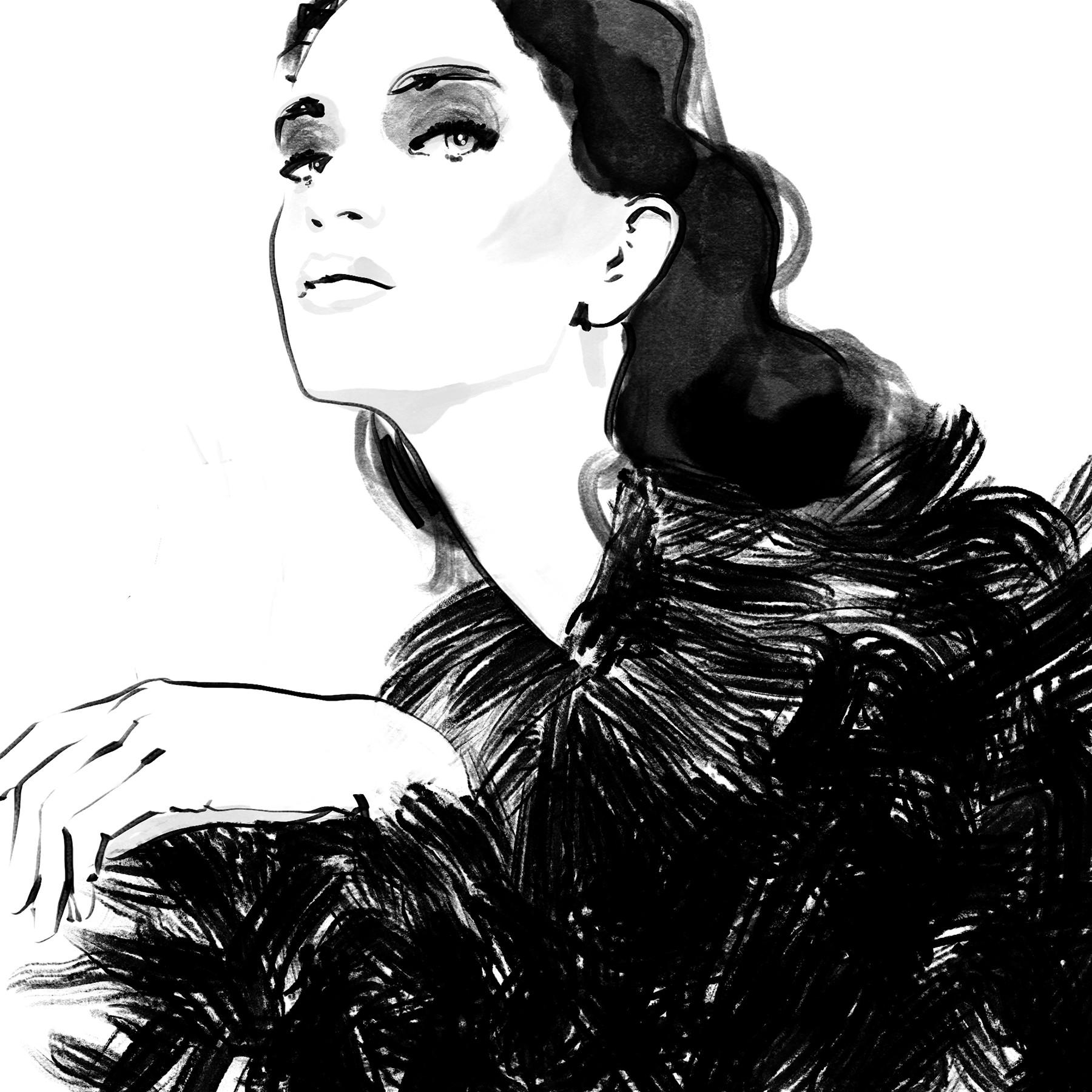 Inktober ink Fashion Illustrations 2017 day 11