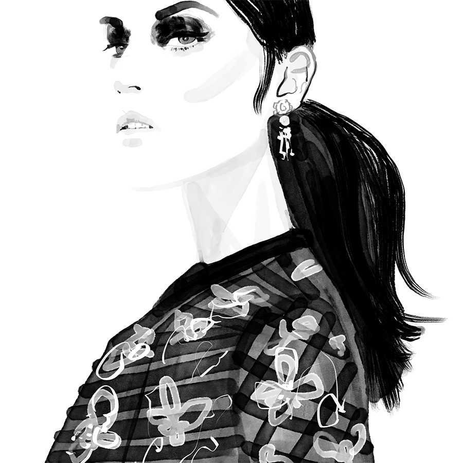 Inktober ink Fashion Illustrations 2017 day 13