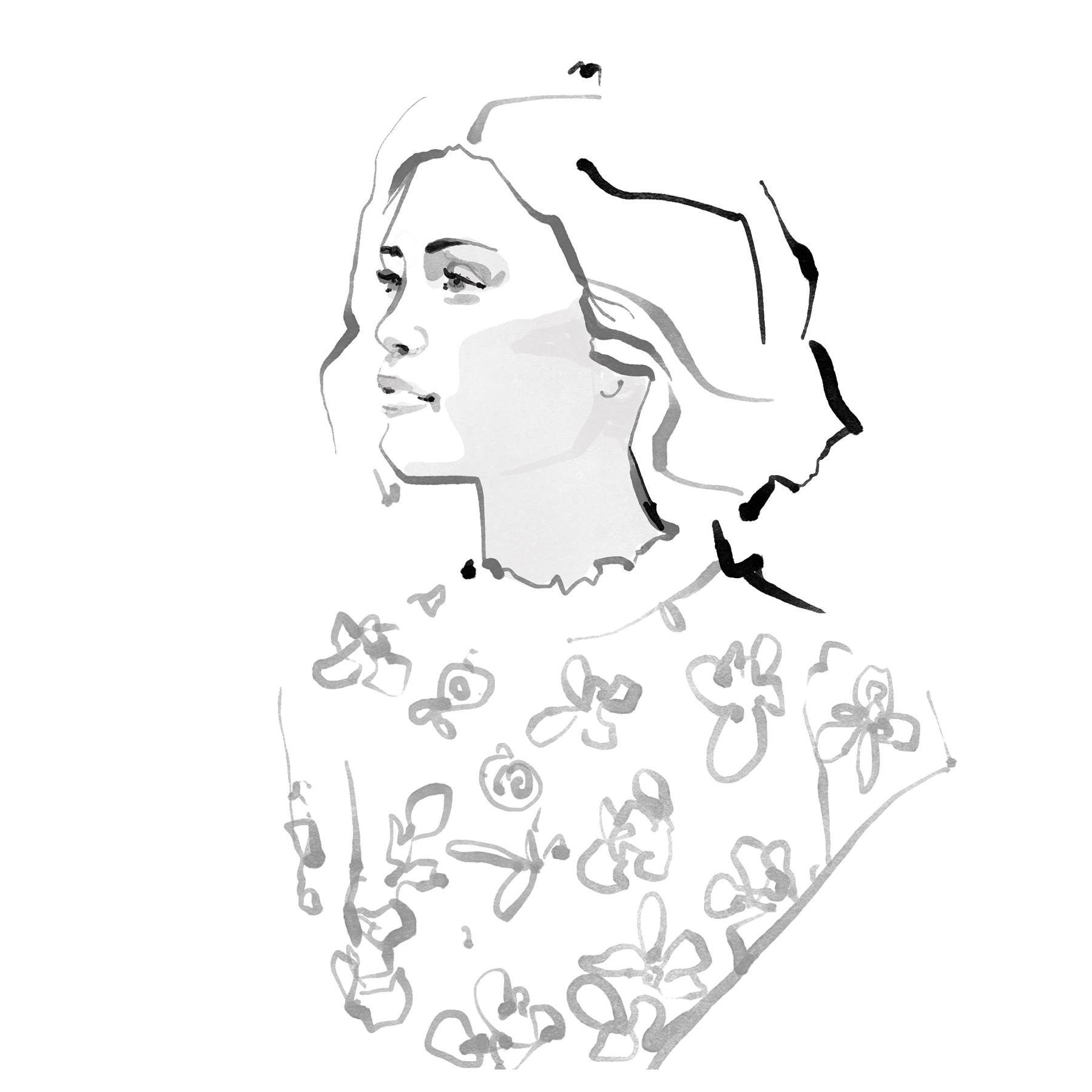 Inktober Fashion Illustrations 2017 day 3