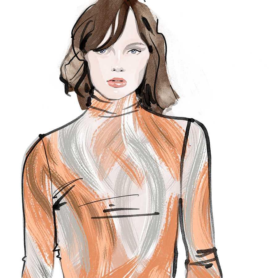 Inktober ink Fashion Illustrations 2017 day 9