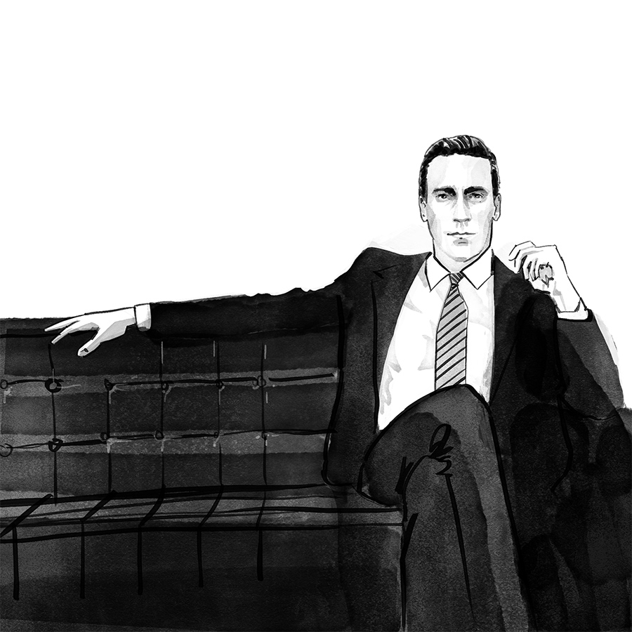 mad men illustrations day 22 for Facebook