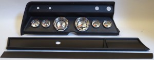 1966 Chevelle Complete Black 6 Gauge Panel with AutoMeter American Muscle Gauges | 1206650021
