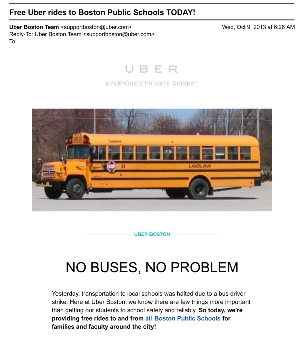 Uber intervenes in Boston bus driver striker
