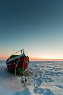 usedom-boot-winter