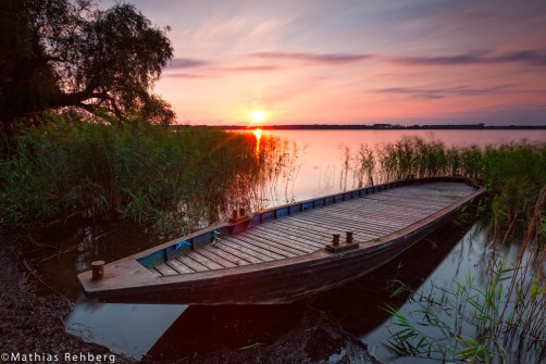 altmark-arendsee-sonnenuntergang-boot-wrack