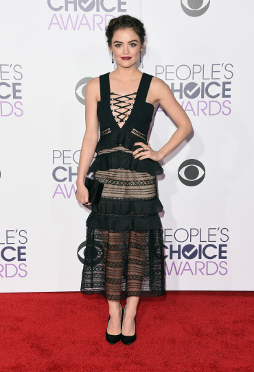 LOS ANGELES, CA - JANUARY 06: Actress Lucy Hale attends the People's Choice Awards 2016 at Microsoft Theater on January 6, 2016 in Los Angeles, California. (Photo by Jason Merritt/Getty Images)