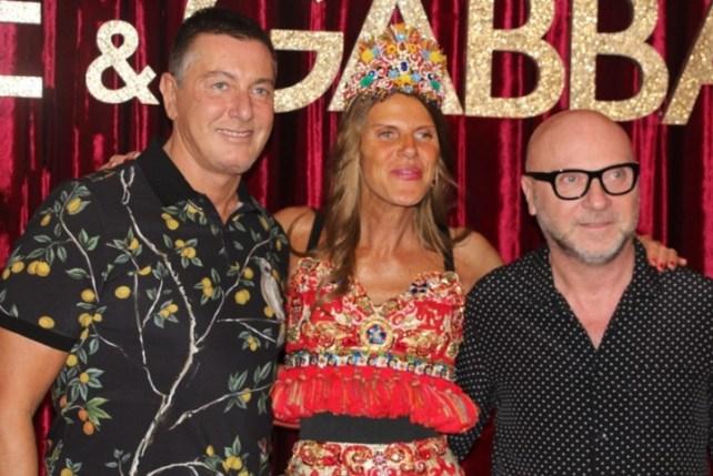 Domenico Dolce, Anna Dello Russo e Stefano Gabbana