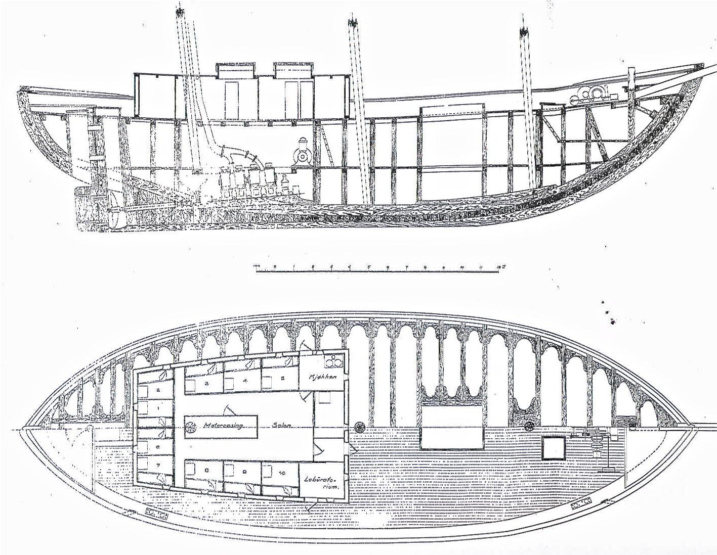 Plantegning - polarship Maud
