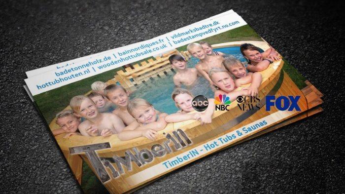 Kompanijos TimberIN vizitinė kortelė