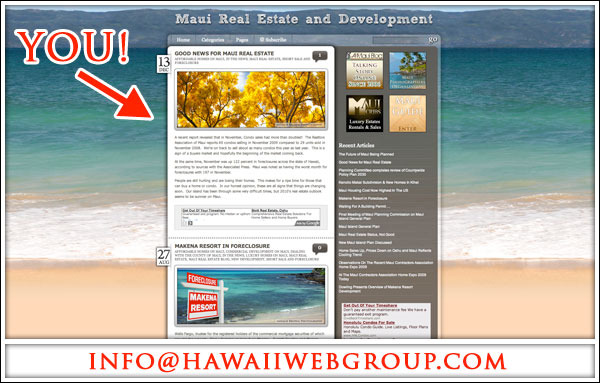 Calling All Maui Realtors! Free Maui Real Estate Marketing
