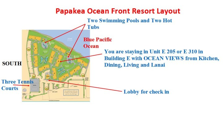 Papakea Resort Map Directions to Papakea Resort with Google Direction Map