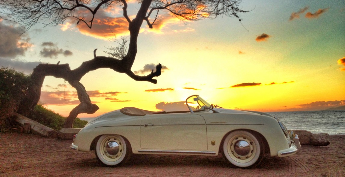 Lani Classic Ivory 1957 Porsche 356 Speedster Reproduction Maui Roadsters Classic Luxury