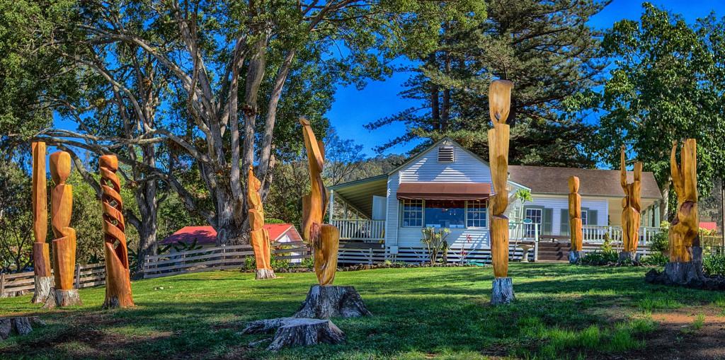 Hula Circle Trees by Maui sculptor Tim Garcia