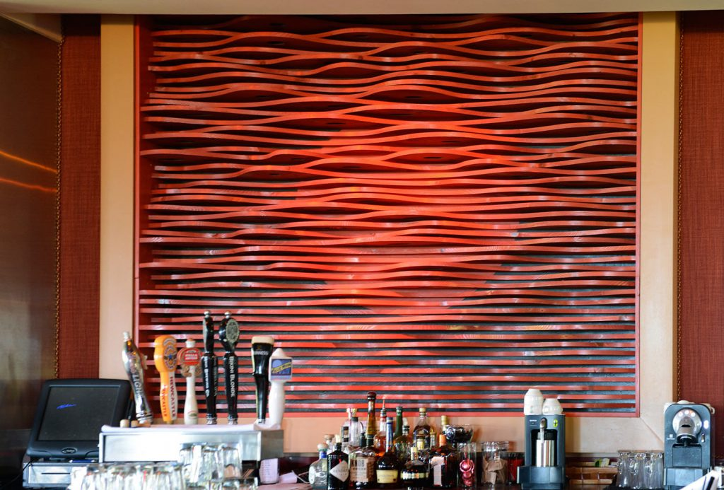 photo of Red Bar Installation by Tim Garcia, Maui Sculpture