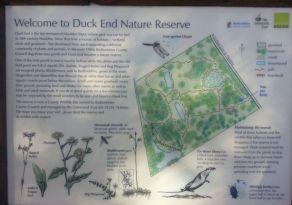 Duck End info board
