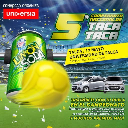 En UTALCA se juega Campeonato Nacional deTaca Taca Limón Soda Universia