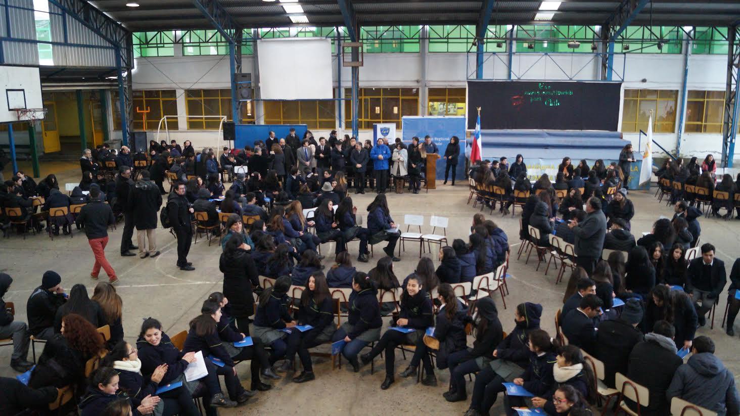 Más de 500 alumnos participaron en el lanzamiento de los Cabildos Provinciales en San Javier