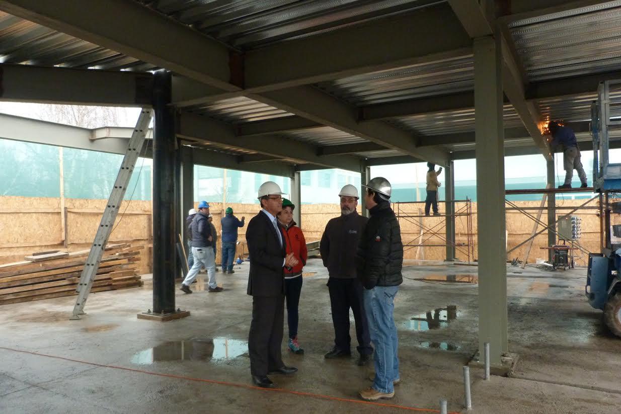 Nuevas aulas se construyen en campus Curicó de la UTalca