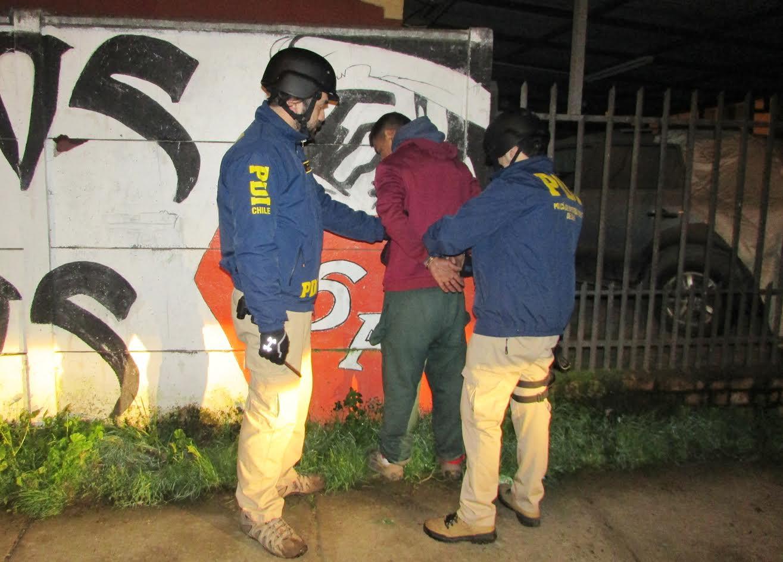 PDI Curicó detiene a 14 personas en operativo policial en la provincia