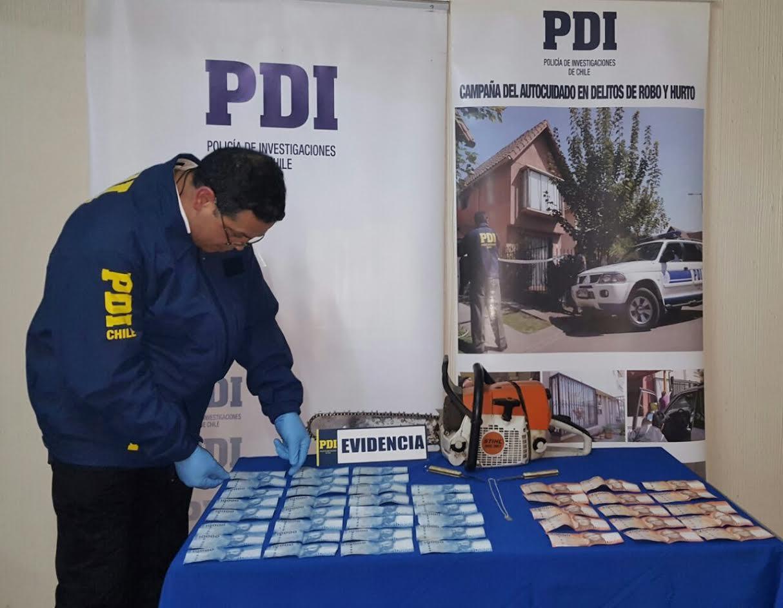 PDI Cauquenes detiene a tres sujetos por robo a domicilio particular