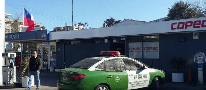 Desconocidos asaltan a mano armada céntrico servicentro en Talca
