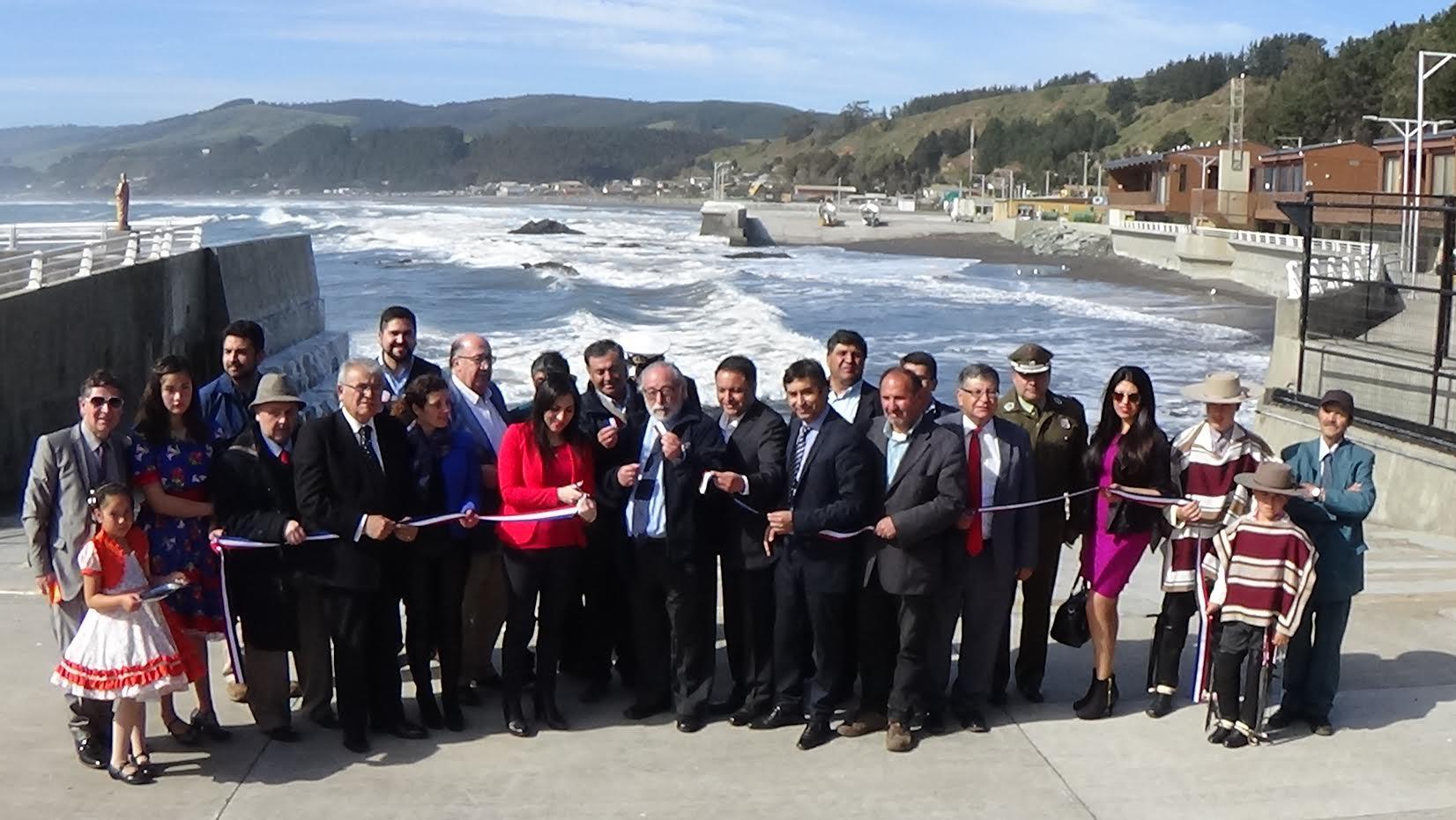 Gobierno inauguró la ampliación de la Caleta Duao de Licantén