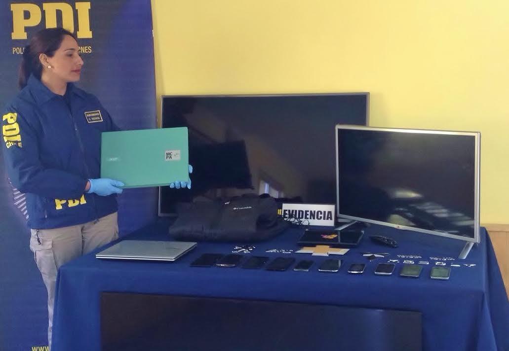 PDI Curicó detecta lugar de venta de especies robadas