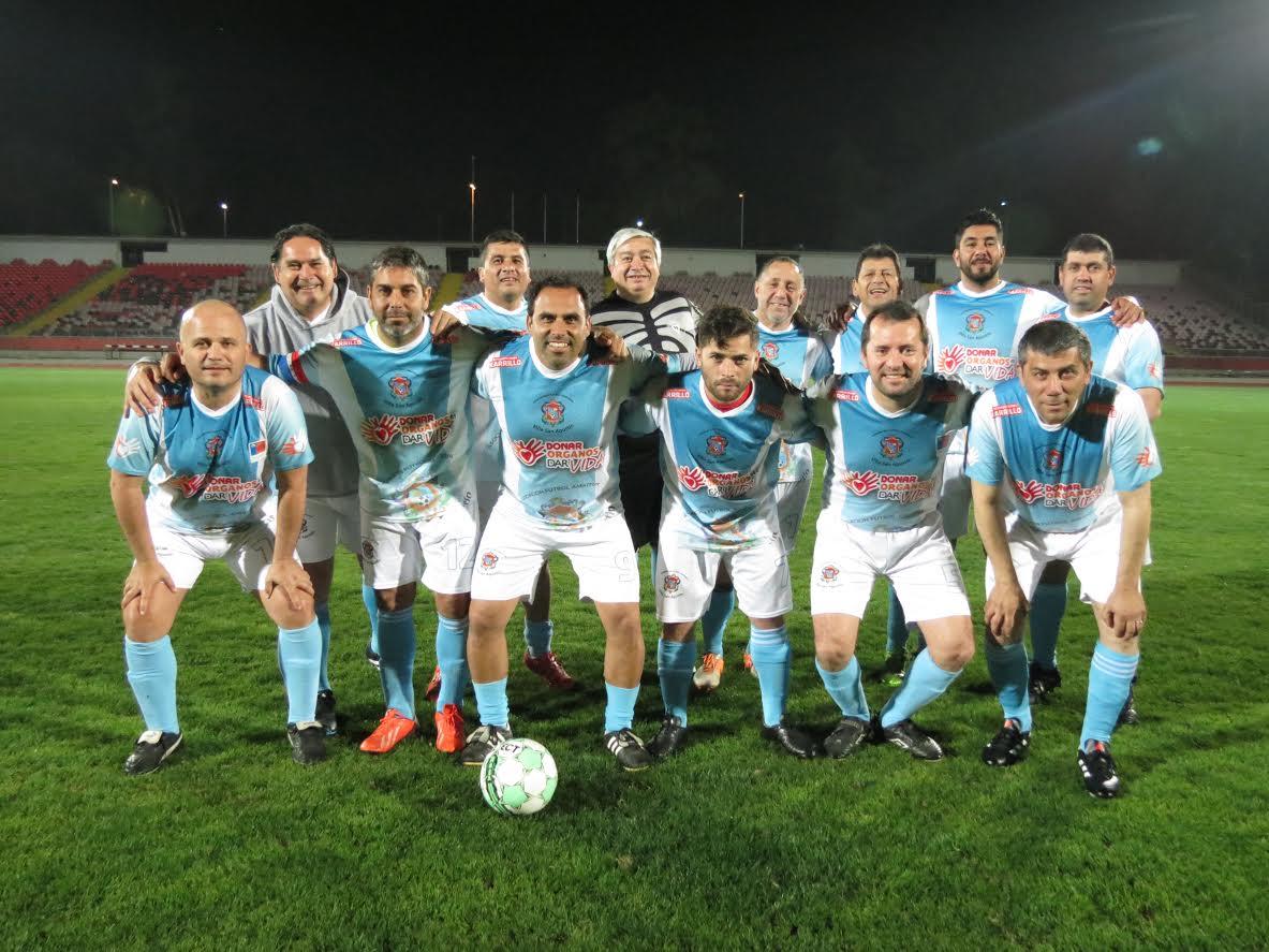 Autoridades juegan partido de fútbol solidarioen vísperas del Día del Donante de Órganos