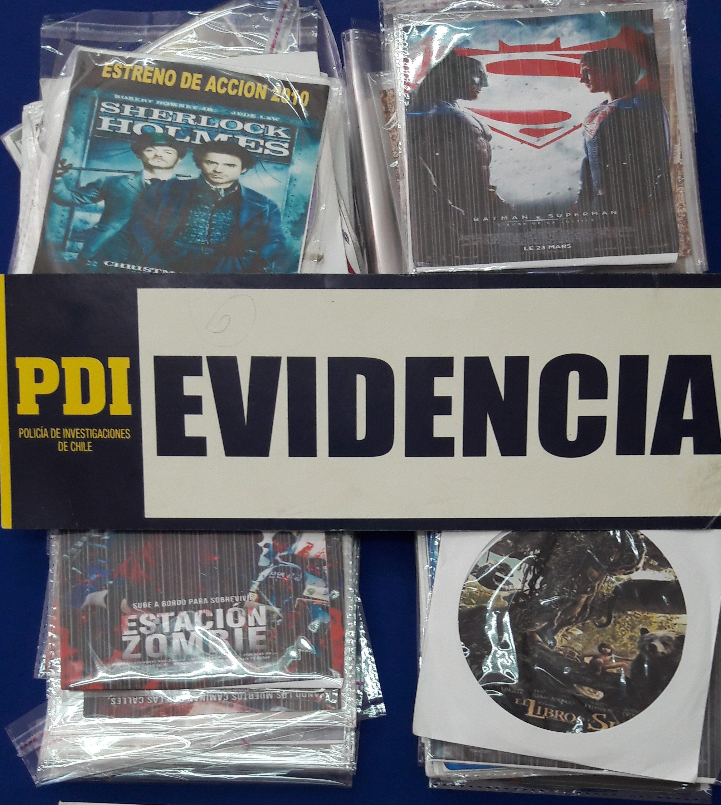 Bridec Linares incauta CD falsificados y detiene a una mujer por infracción a ley de propiedad intelectual