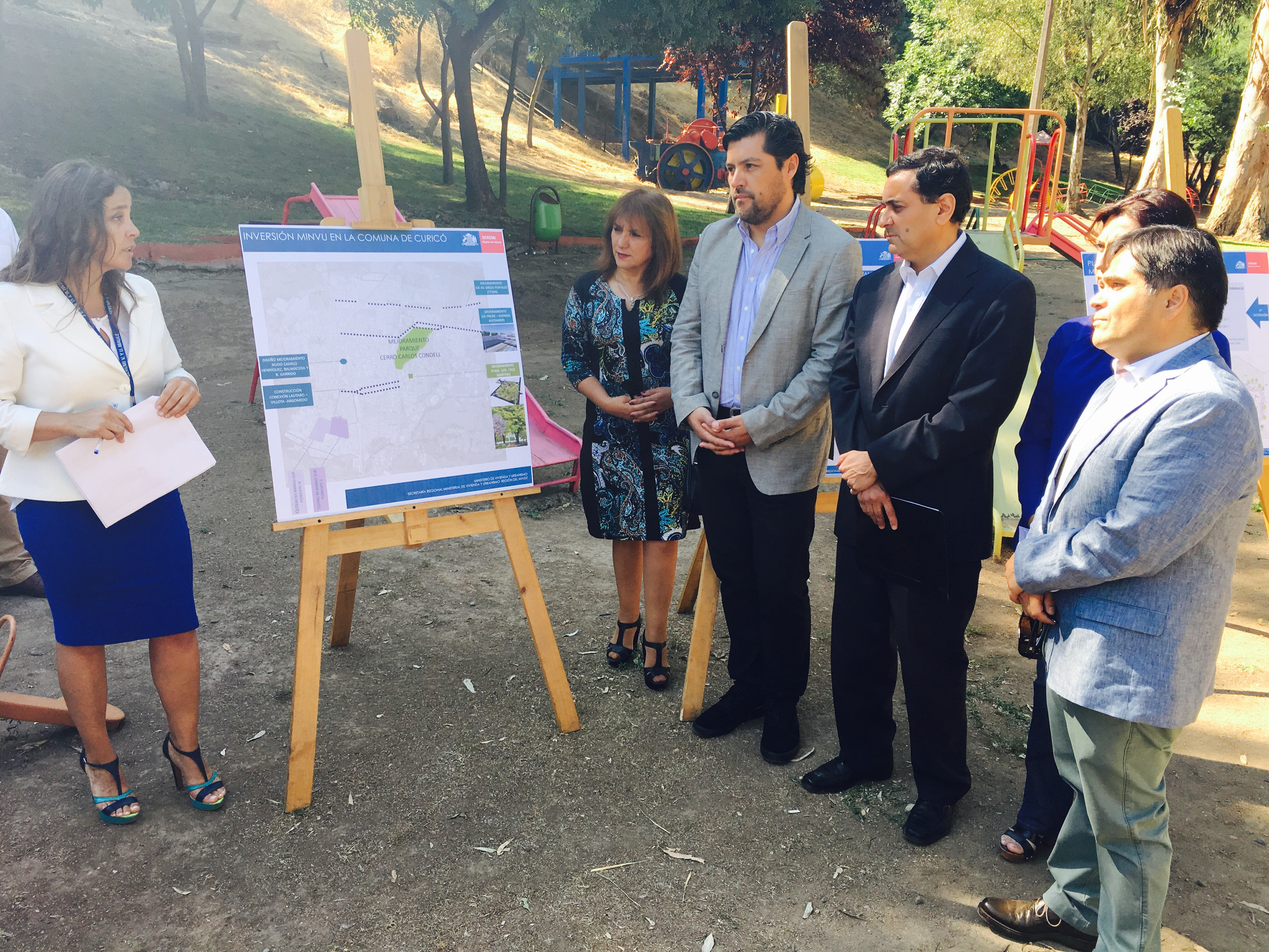 Se inician obras en Parque Cerro Condell en Curicó