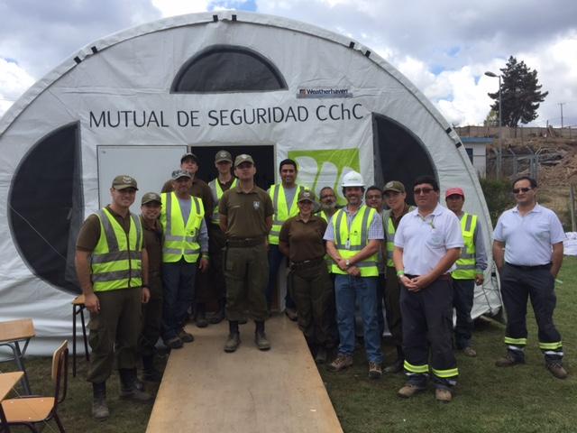 Mutual de Seguridad instala centro de atención psicosocial en Santa Olga para afectados de incendios forestales