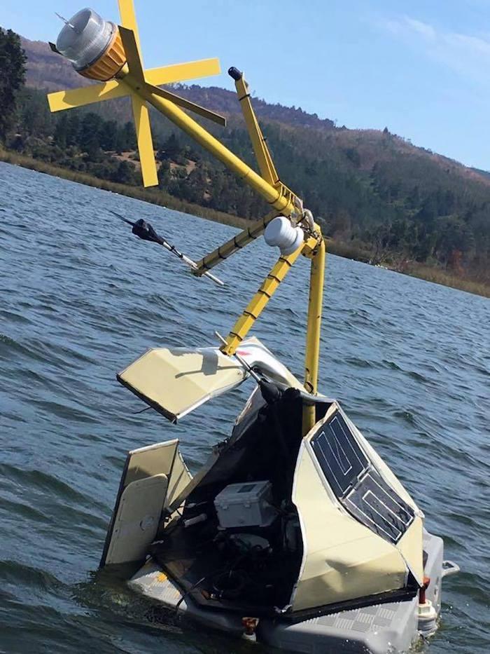 Destruyen boya de monitoreo de calidad del agua instalada por Ministerio del Medio Ambiente en Lago Vichuquén