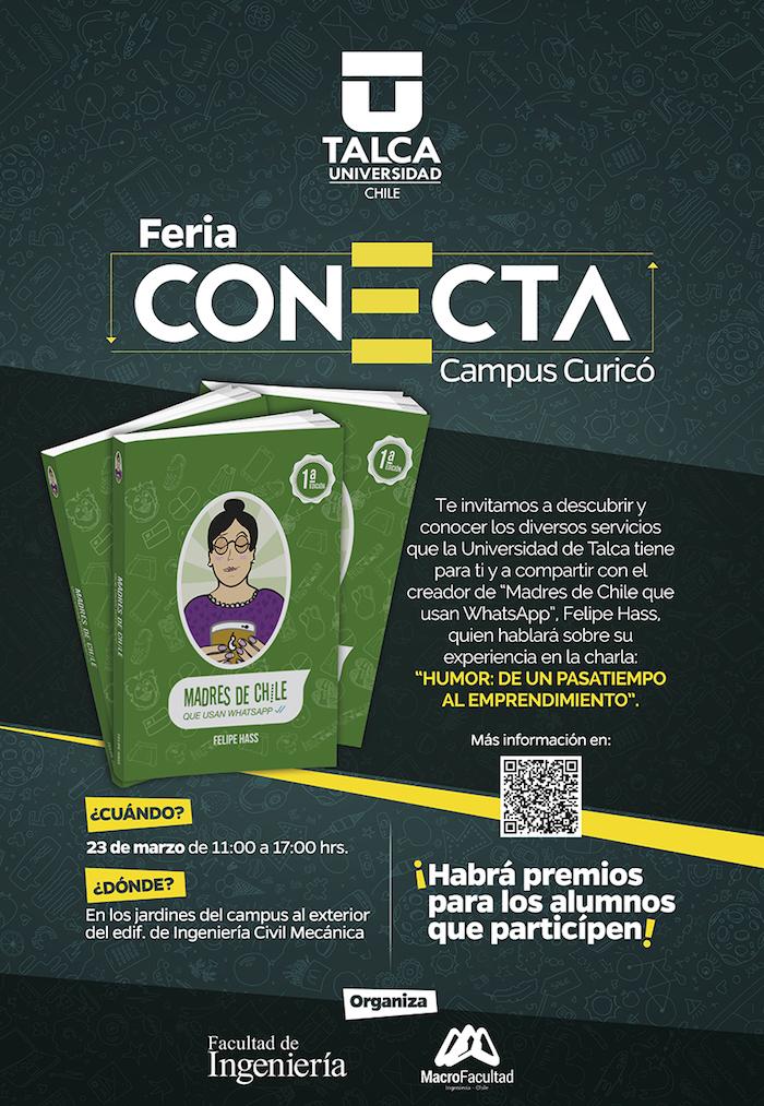 Feria Conecta en Campus Curicó de la UTalca contará con charla del creador de Madres que usan Whatsapp