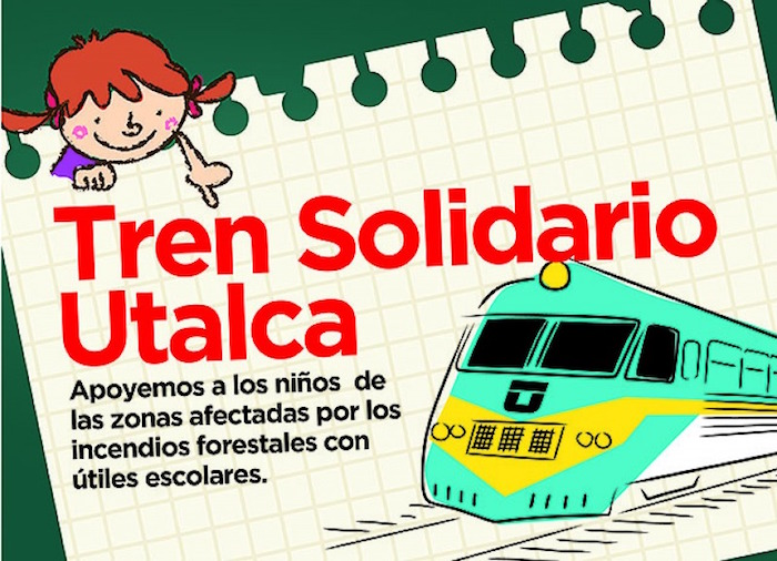 UTalca realiza campaña para entregar útiles escolares a niños de zonas aledañas al Ramal