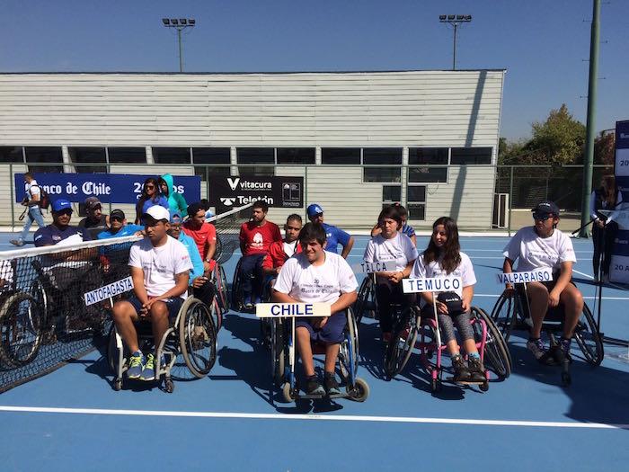 Comenzó la vigésima versión del torneo de tenis en silla de ruedas Chilean Open Copa Banco de Chile