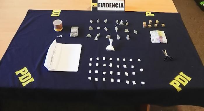 Detectives antinarcóticos desbarataron foco de microtráfico en Hualañé