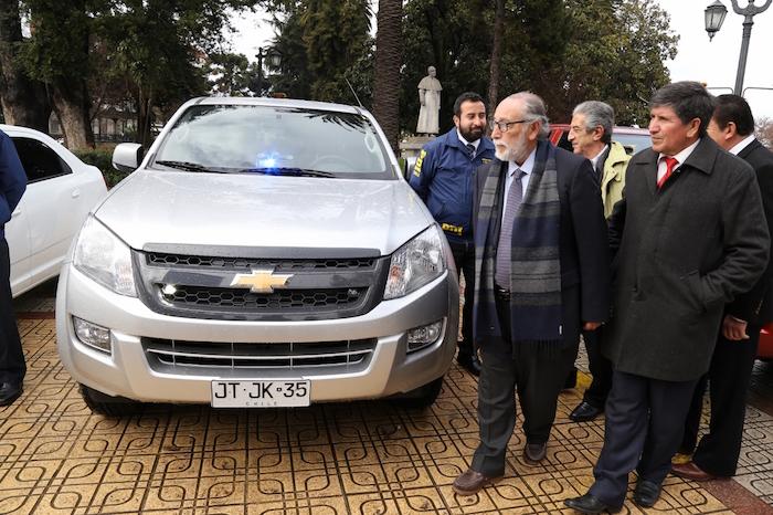 Gobierno regional del Maule entregó flota de 36 vehículos a la PDI  para fortalecer seguridad ciudadana