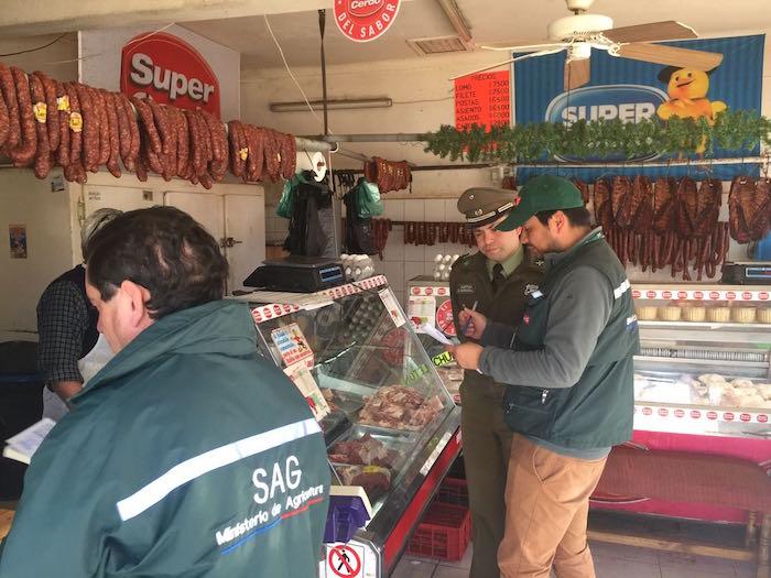 SAG fiscaliza carnicerías en Cauquenes para evitar abigeato