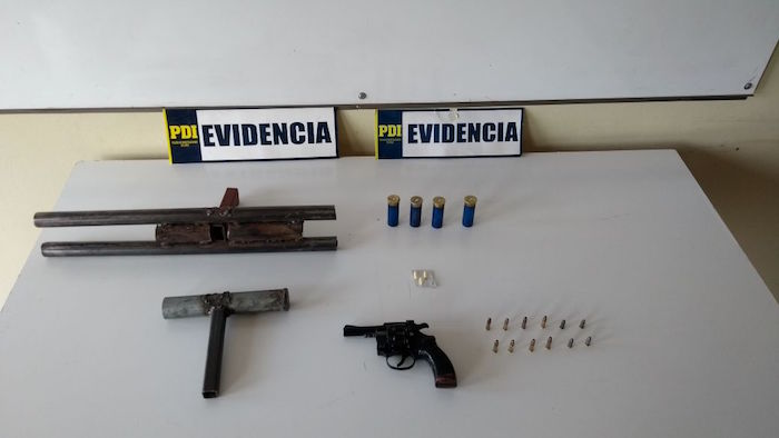 PDI Parral capturó a seis sujetos implicados en amenazas de muerte con arma de fuego