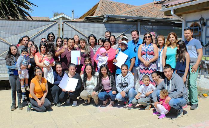 37 familias de Pelluhue construirán nuevo villorrio con recursos del Programa Rural