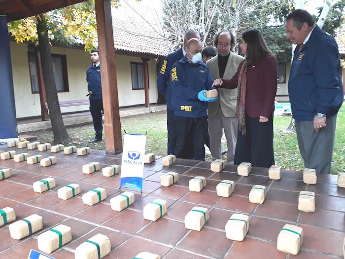 93 kilos de pasta base de cocaína logran ser incautados en Curicó