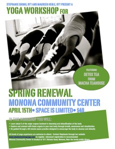 Spring Renewal Workshop - April 15th, 2012