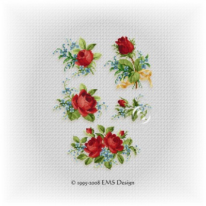 Cross Stitch Patterns By EMS Design Floral Motif Series