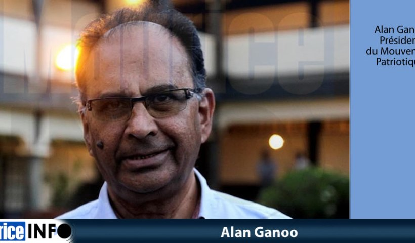 Alan Ganoo, président du Mouvement Patriotique